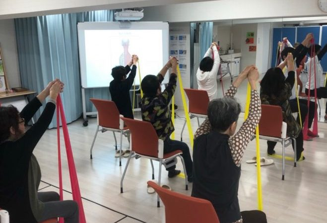 らくらく体幹トレーニング・認知症予防のためのマナビバエクササイズ・柔軟性をあげ可動域を広げるストレッチ&トレーニング